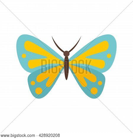 Artistic Butterfly Icon. Flat Illustration Of Artistic Butterfly Vector Icon Isolated On White Backg