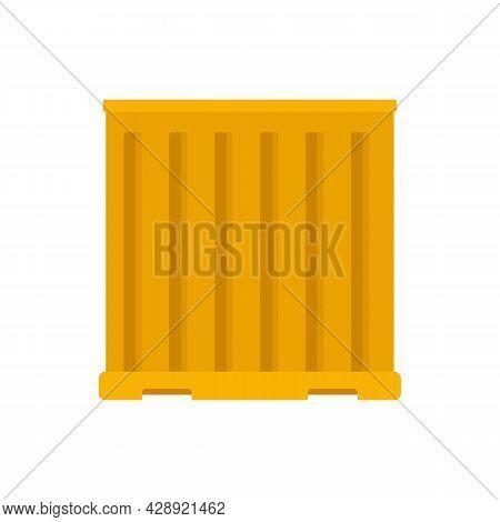 Storage Cargo Container Icon. Flat Illustration Of Storage Cargo Container Vector Icon Isolated On W