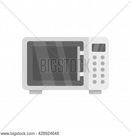Microwave Radiation Icon. Flat Illustration Of Microwave Radiation Vector Icon Isolated On White Bac