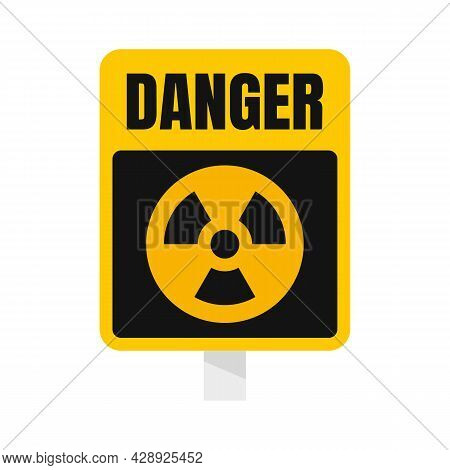 Danger Zone Sign Icon. Flat Illustration Of Danger Zone Sign Vector Icon Isolated On White Backgroun