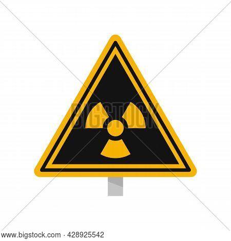 Danger Zone Caution Icon. Flat Illustration Of Danger Zone Caution Vector Icon Isolated On White Bac