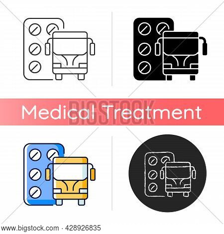 Pills For Motion Sickness Icon. Nausea And Vomiting Reducing. Preventing Travel Sickness. Airsick, S