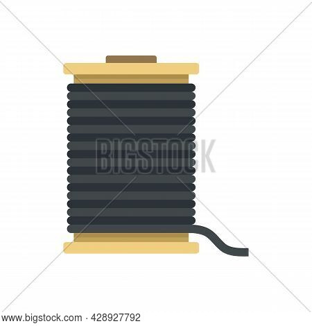 Contruction Wire Coil Icon. Flat Illustration Of Contruction Wire Coil Vector Icon Isolated On White