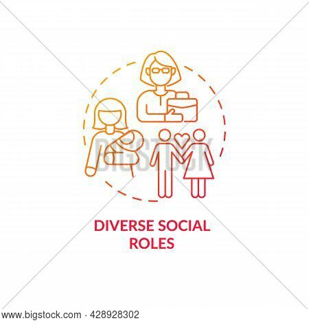 Diverse Social Roles Concept Icon. Adulthood Development. Life Choice Problem. Parenting And Careeri