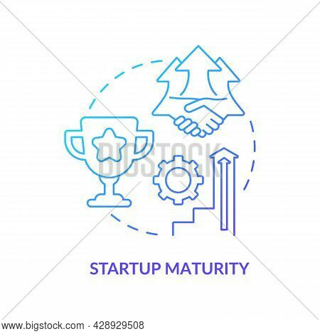 Startup Maturity Blue Gradient Concept Icon. Stage Of Company Development. Business Growth. Startup
