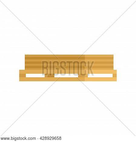 Wood Planks Pallet Icon. Flat Illustration Of Wood Planks Pallet Vector Icon Isolated On White Backg