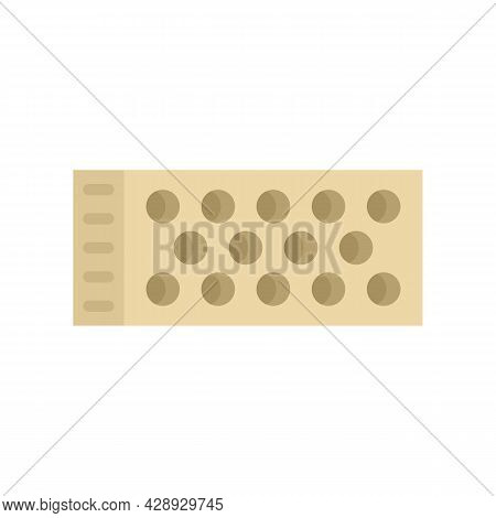 Brick Cement Icon. Flat Illustration Of Brick Cement Vector Icon Isolated On White Background