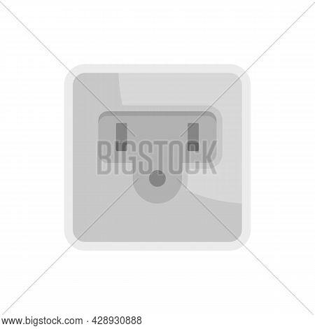 Type B Power Socket Icon. Flat Illustration Of Type B Power Socket Vector Icon Isolated On White Bac