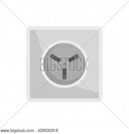 Type H Power Socket Icon. Flat Illustration Of Type H Power Socket Vector Icon Isolated On White Bac