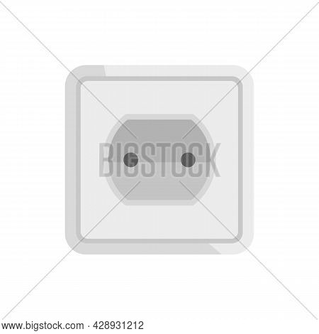 Tech Power Socket Icon. Flat Illustration Of Tech Power Socket Vector Icon Isolated On White Backgro