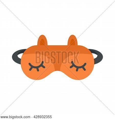 Lifestyle Sleeping Mask Icon. Flat Illustration Of Lifestyle Sleeping Mask Vector Icon Isolated On W