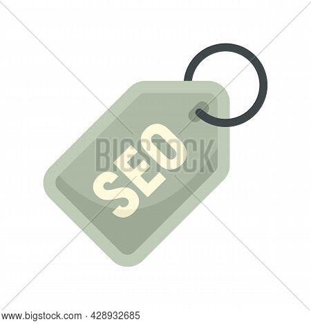 Seo Marketing Tag Icon. Flat Illustration Of Seo Marketing Tag Vector Icon Isolated On White Backgro
