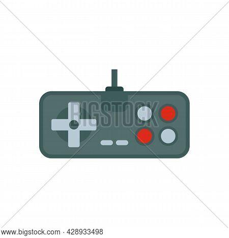 Retro Game Joystick Icon. Flat Illustration Of Retro Game Joystick Vector Icon Isolated On White Bac