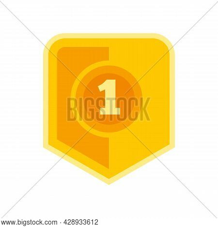 First Place Video Game Icon. Flat Illustration Of First Place Video Game Vector Icon Isolated On Whi