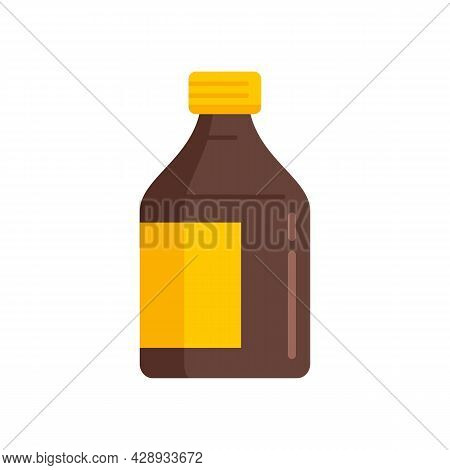 Cough Syrup Icon. Flat Illustration Of Cough Syrup Vector Icon Isolated On White Background