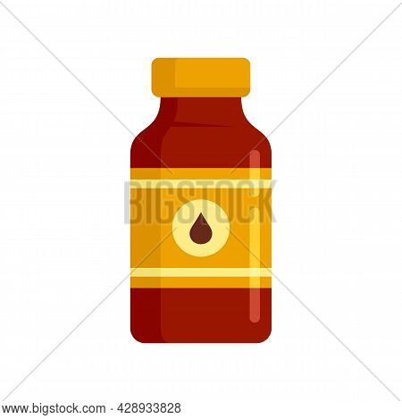 Pharmacist Cough Syrup Icon. Flat Illustration Of Pharmacist Cough Syrup Vector Icon Isolated On Whi