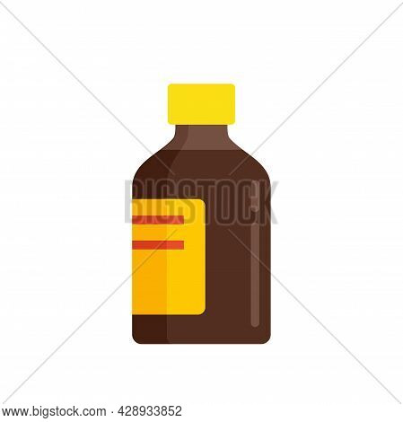 Baby Cough Syrup Icon. Flat Illustration Of Baby Cough Syrup Vector Icon Isolated On White Backgroun