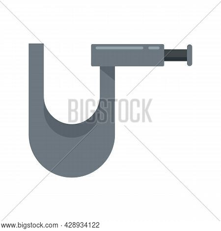 Piercing Tool Fix Icon. Flat Illustration Of Piercing Tool Fix Vector Icon Isolated On White Backgro