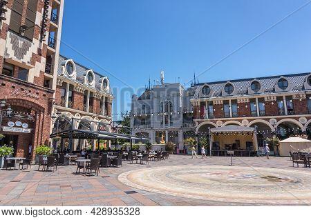 Batumi, Adjara, Georgia - July 2, 2021: The Batumi Piazza Is A Famous Italian-style Square In The Ol