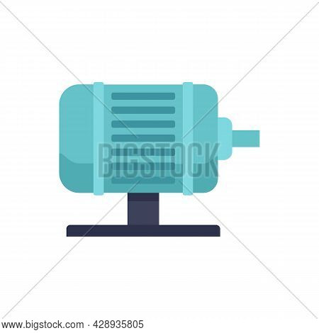 Electric Motor Icon. Flat Illustration Of Electric Motor Vector Icon Isolated On White Background
