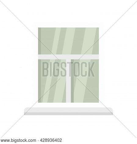 Shiny New Window Icon. Flat Illustration Of Shiny New Window Vector Icon Isolated On White Backgroun