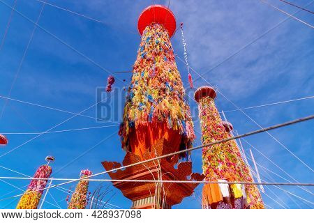 Slakpat Lanna Or Salak Yom At Wat Phra That Hariphunchai In Lamphun, Thailand.