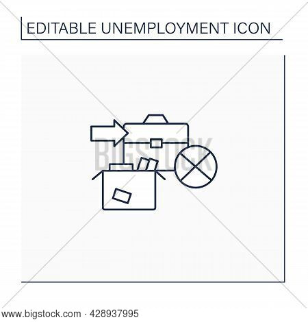 Unemployment Vacation Line Icon. Unemployment Benefits.vacation Payments. Payment Concept. Isolated