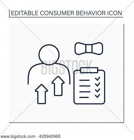 Personal Characteristic Line Icon. Customer Perception. Individual Features Like Age, Occupation, Ge