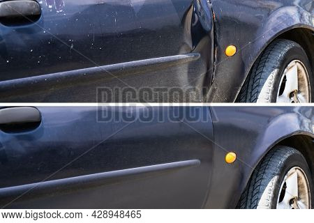Car Dent Damage Repair Before And After