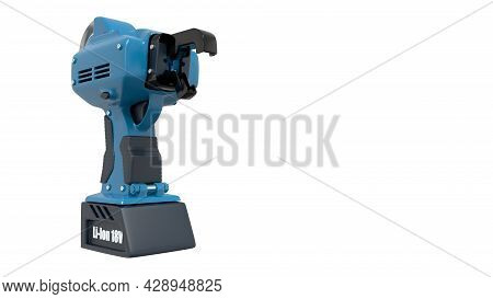 Electric Rebar Wire Tier Tool, Isolated Industrial 3d Rendering