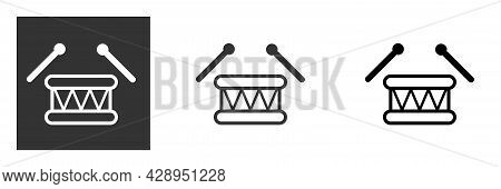 Drum Icon, Musical Instrument Icon Vector Illustration Art, Symbol Of Music And Entertainment