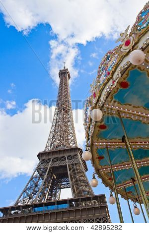 Carousel at the Eiffel Tower, Paris