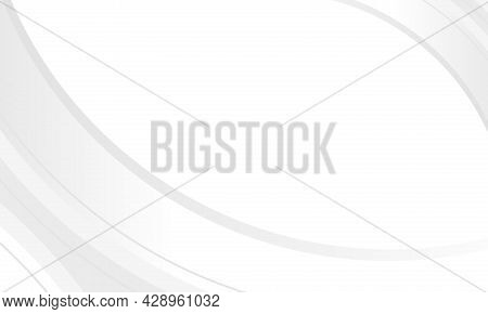 White Abstract Graphic Design Presentation Background Web Template. Abstract White And Gray Gradient