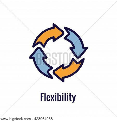 Agile Scrum Process And Methodology  Icon With Arrows