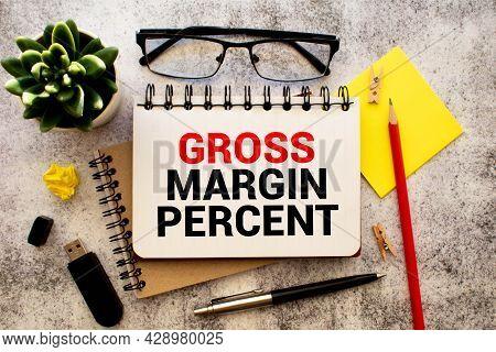 Business Term With Climbing Chart Graph - Gross Margin Percent