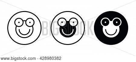 Frog Icon Vector. Animal Icon Button, Vector, Sign, Symbol, Logo, Illustration, Editable Stroke, Fla