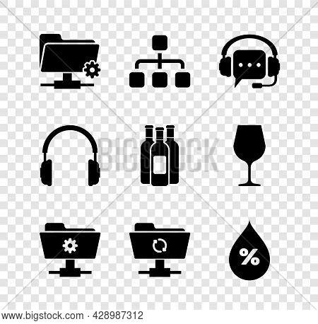 Set Ftp Settings Folder, Hierarchy Organogram Chart, Headphones With Speech Bubble, , Sync Refresh A