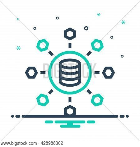 Mix Icon For Sharing Allocation Distribution Partaking Data Link Database