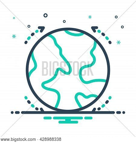 Mix Icon For Globe  Spherical Model Earth Surface Planet Network World Www Orbit  Map