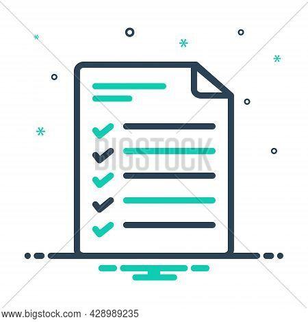 Mix Icon For Agenda Itinerary Daytimer Program Schedule Checklist Notes Task List