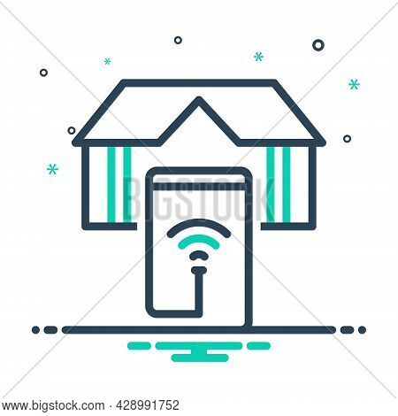 Mix Icon For Smart-home Smart Home App Electricity Appliances Device Apartment Wifi Automat Security