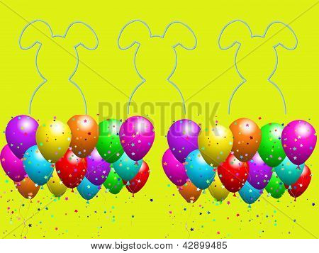 Easter party with balloons