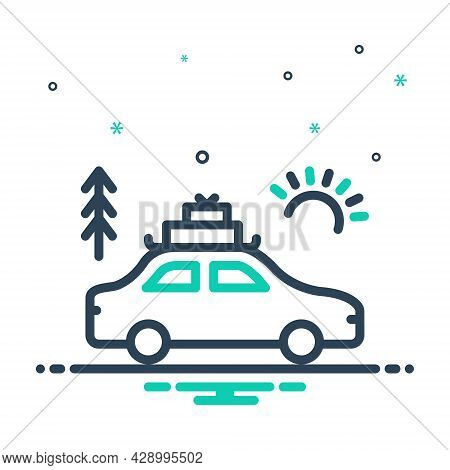 Mix Icon For Vacation Holiday Leave Tour Leisure Furlough Sojourn Sabbatical