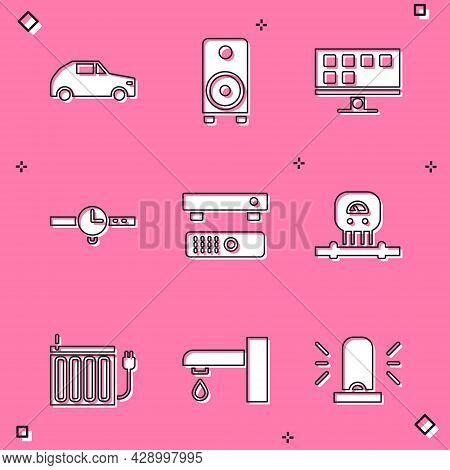 Set Car, Stereo Speaker, Smart Tv, Wrist Watch, Multimedia And Tv Box, Sensor, Heating Radiator And