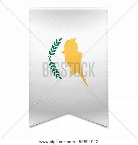 Ribbon Banner - Cypriot Flag