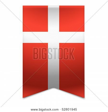 Ribbon Banner - Danish Flag