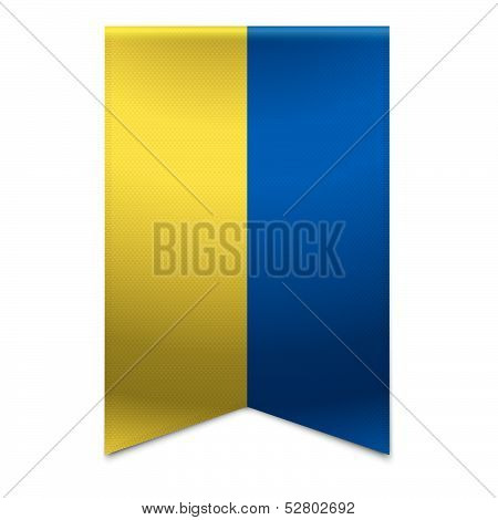 Ribbon Banner - Ukrainian Flag