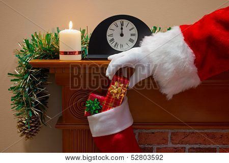 Midnight on Christmas Eve and Santa Claus (or Father Christmas) has come down the chimney to deliver your presents.