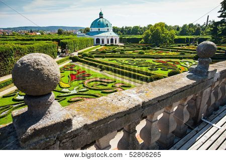 Flower garden in Kromeriz