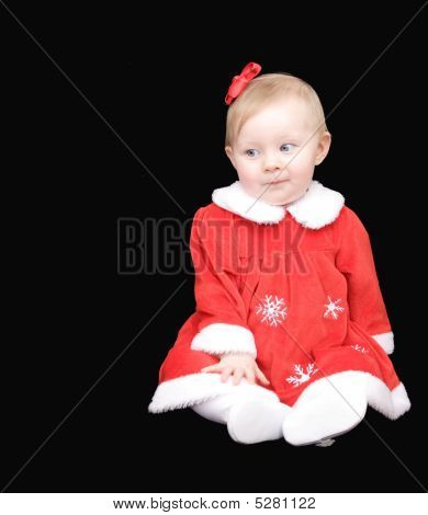 Christmas Baby With Copy Space
